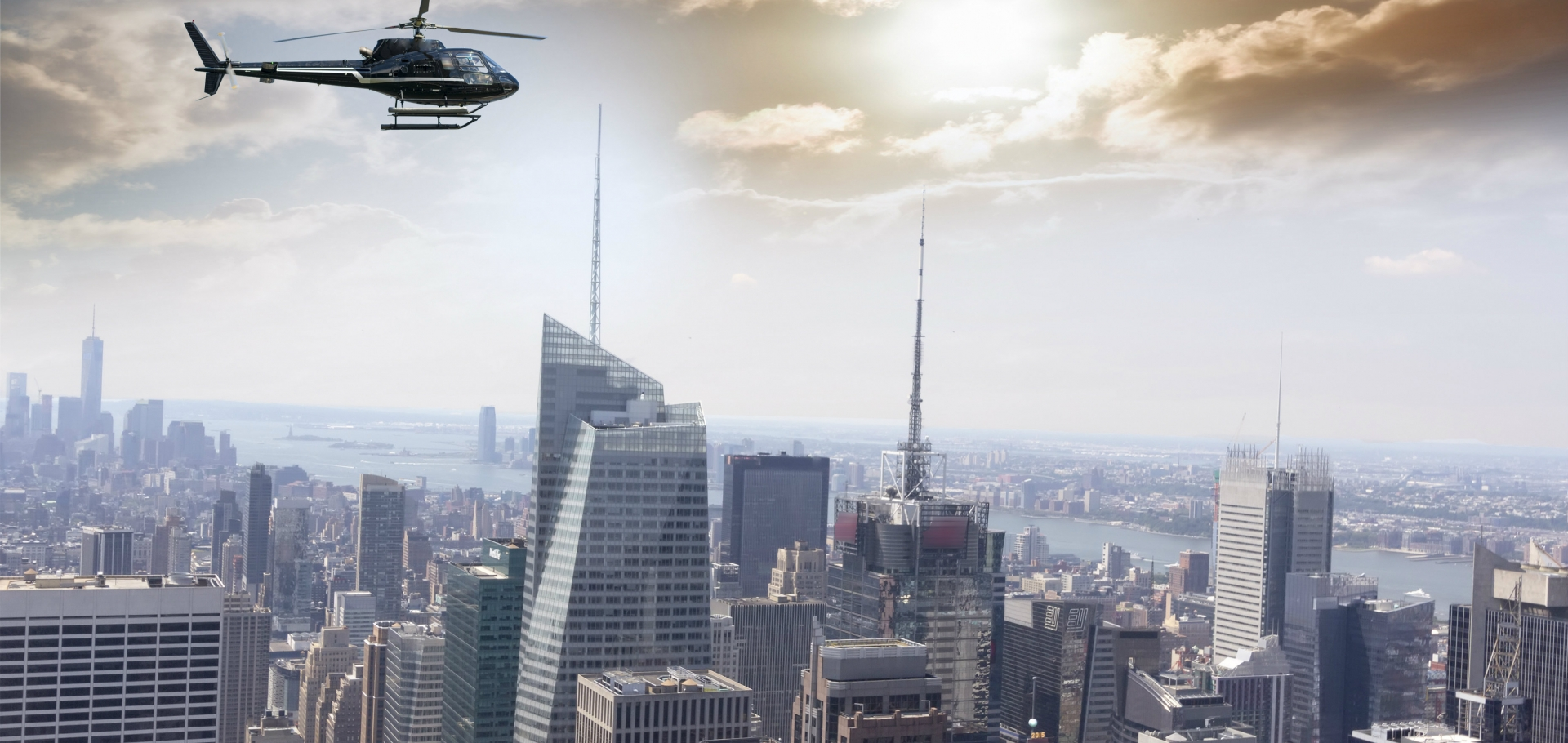 Helicopter ride over Manhattan