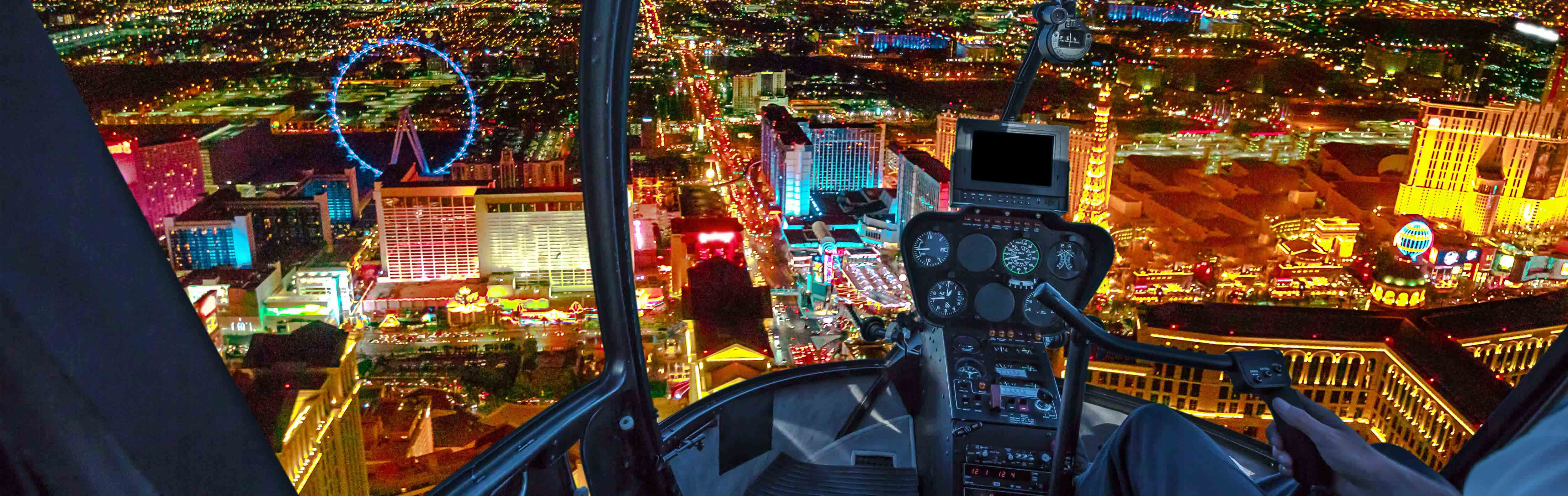 Helicopter ride down The Strip